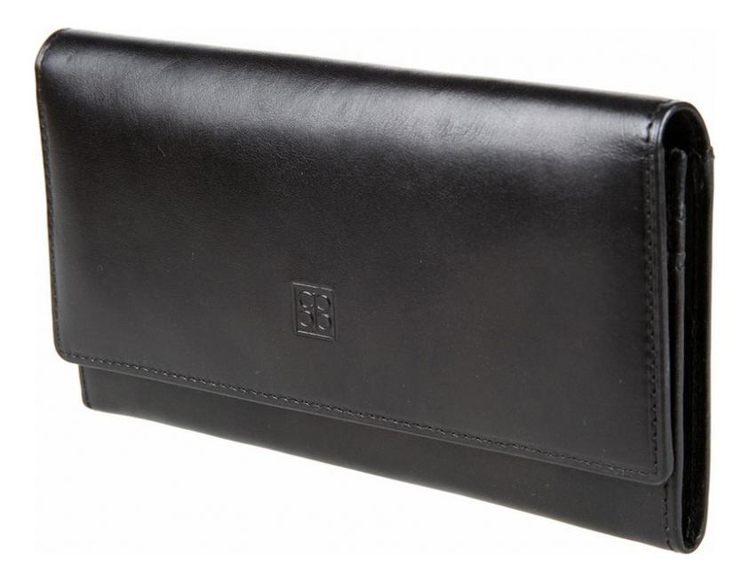 Купить Кошелек женский Milano Black 1075 (черный), Sergio Belotti