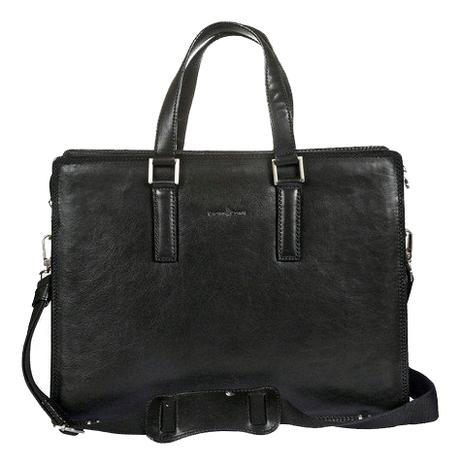 Бизнес-сумка Black 911248 (черная) cover for avtodokumentov and passport gianni conti 708454 black