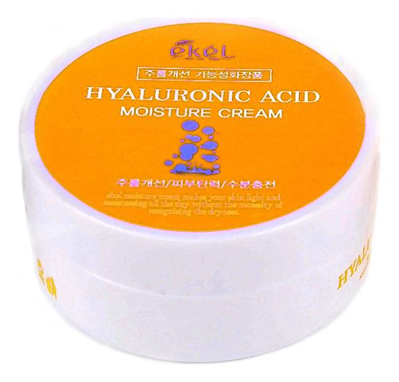 Купить Увлажняющий крем для лица на основе гиалуроновой кислоты Hyaluronic Acid Moisture Cream 100г, Ekel