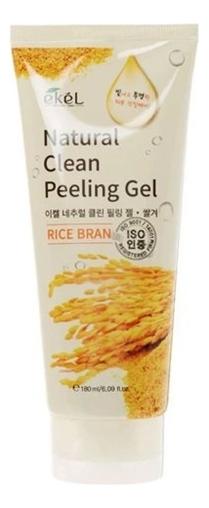 Пилинг-скатка для лица с экстрактом коричневого риса Rice Bran Natural Clean Peeling Gel 180мл: Пилинг-скатка 180мл недорого