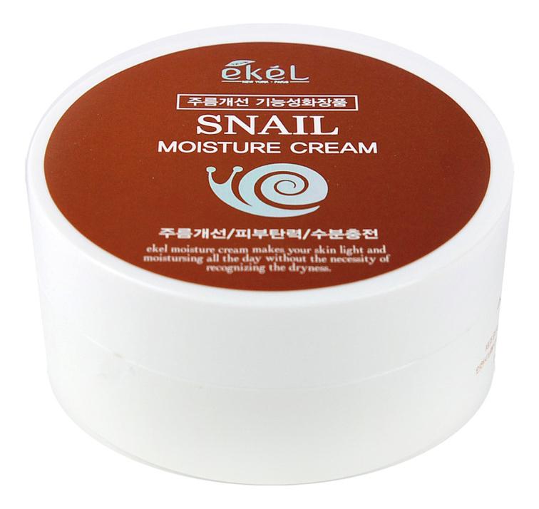 Купить Увлажняющий крем для лица с экстрактом улиточного муцина Snail Moisture Cream 100г, Ekel