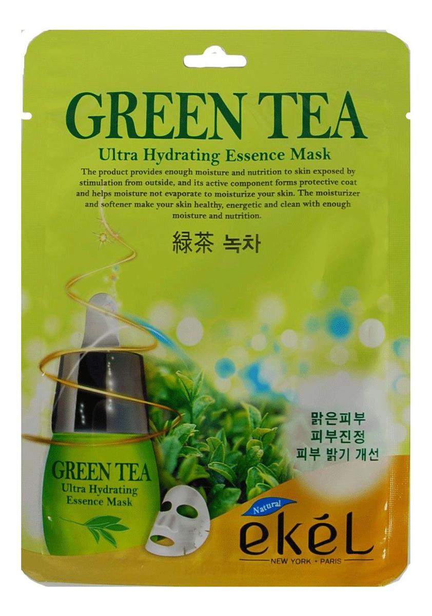 Тканевая маска для лица с экстрактом зеленого чая Green Tea Ultra Hydrating Essence Mask 25г sun smile essence маска для лица успокаивающая с экстрактом зеленого чая 1 шт