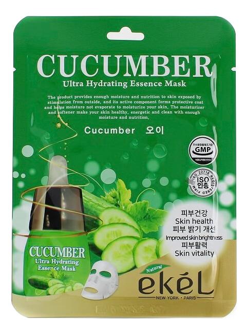 Тканевая маска для лица с экстрактом огурца Cucumber Ultra Hydrating Essence Mask 25г тканевая маска для лица с экстрактом огурца cucumber ultra hydrating essence mask 25г