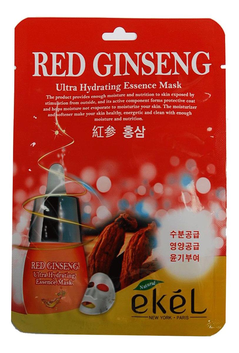 Тканевая маска для лица с экстрактом красного женьшеня Red Ginseng Ultra Hydrating Essence Mask 25г тканевая маска для лица с экстрактом огурца cucumber ultra hydrating essence mask 25г