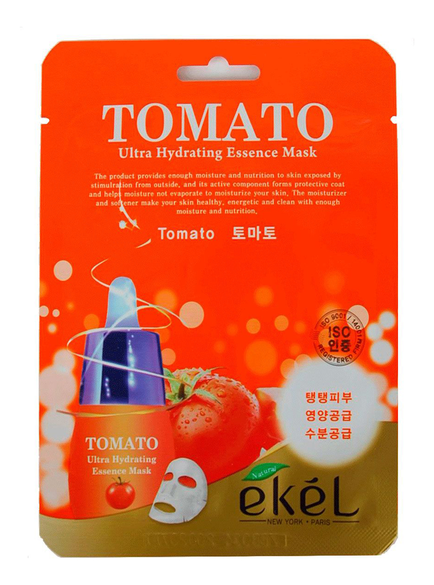 тканевая маска для лица с экстрактом томата facial sheet mask tomato revitalizing 25мл Тканевая маска для лица с экстрактом томата Tomato Ultra Hydrating Essence Mask 25г