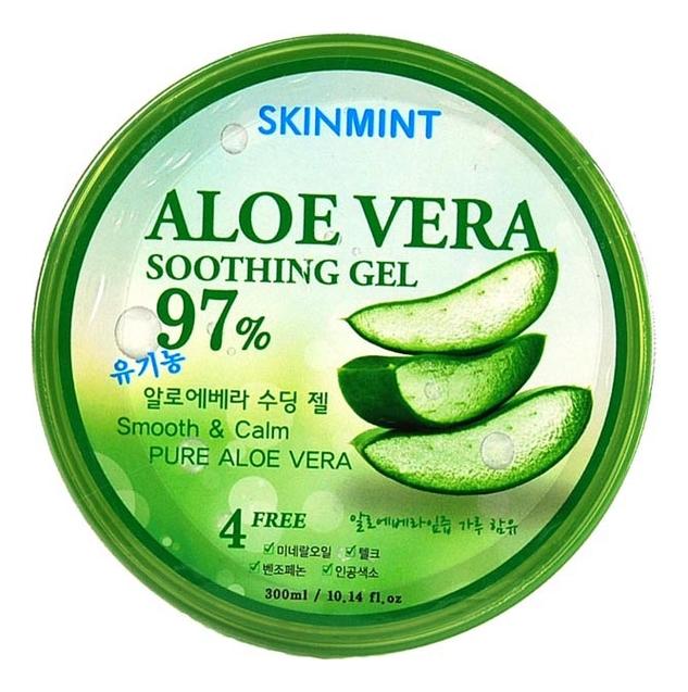 Купить Увлажняющий гель для лица и тела с экстрактом алоэ 97% Skinmint Aloe Vera Soothing Gel 300мл, Ekel