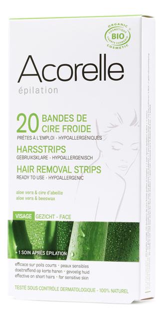 Восковые полоски для депиляции лица Epilation 20 Hair Removal Strips 20шт