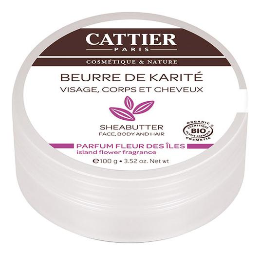 Масло карите Beurre De Karite Visage, Corps Et Cheveux Parfum Fleur Des Iles 100г (цветы)