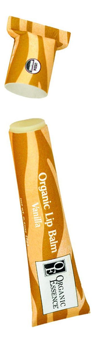 Органический бальзам для губ Organic Lip Balm Vanilla 6г (ваниль) eos набор бальзам для губ eos vanilla mint ваниль мята 2 штуки eos lip balm
