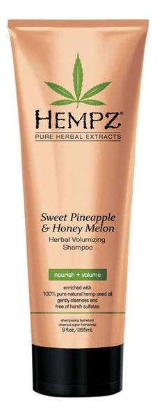 Шампунь для придания объема волосам Sweet Pineapple & Honey Melon Herbal Volumizing Shampoo (ананас и медовая дыня): Шампунь 265мл