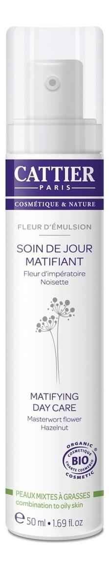 Купить Матирующий дневной крем Пудровое парфе для комбинированной и жирной кожи Fleur D'emulsion Soin De Jour Matifiant 50мл, CATTIER