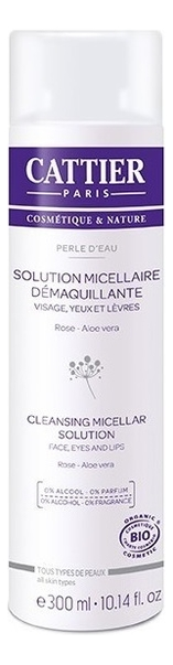 Купить Лосьон мицеллярный Жемчужная вода Perle d'Eau Solution Micellaire Demaquillante 300мл: Лосьон 300мл, CATTIER