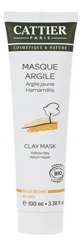 Маска на основе желтой глины для сухой кожи лица Masque Argile Jaune Hamamelis: Маска 100мл фото