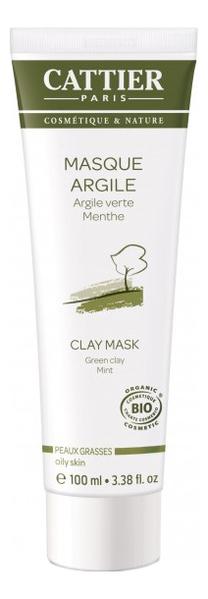 Маска на основе зеленой глины для жирной кожи лица Masque Argile Verte Menthe: Маска 100мл крем для лица cattier cattier ca061lwflk64