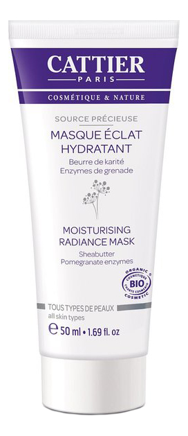 Увлажняющая маска для лица Мгновенное сияние Source Precieuse Masque Eclat Hydratant 50мл крем для лица cattier cattier ca061lwflk64