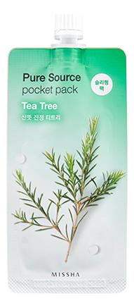 Ночная маска для лица c экстрактом чайного дерева Pure Source Pocket Pack Tea Tree 10мл недорого