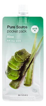 Ночная маска для лица с экстрактом алоэ Pure Source Pocket Pack Aloe 10мл недорого