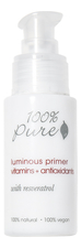 100% Pure Основа под макияж Luminous Primer Vitamins + Antioxidants 30мл