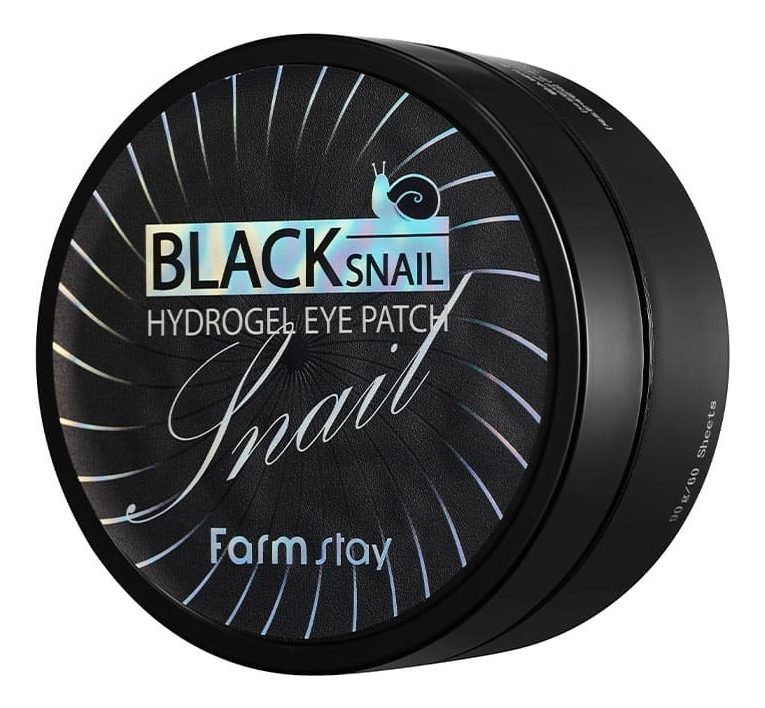 Купить Гидрогелевые патчи для кожи вокруг глаз с муцином черной улитки Black Snail Hydrogel Eye Patch 60шт, Farm Stay