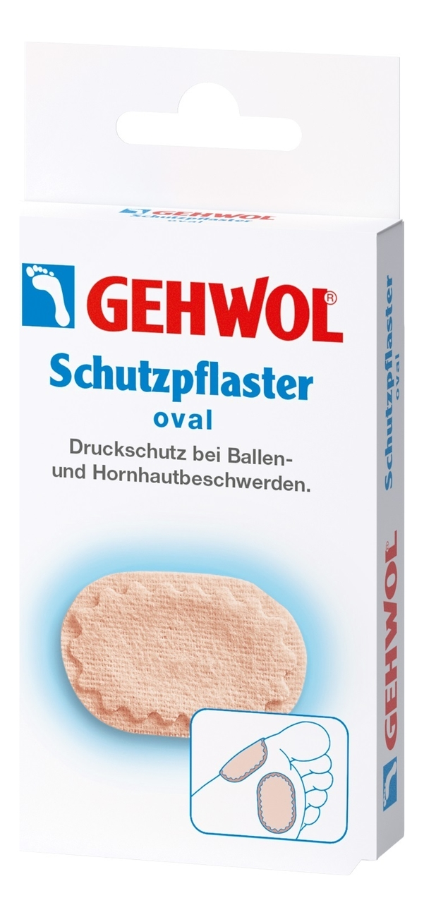 Купить Овальный защитный пластырь Schutzpflaster Oval 4шт, Gehwol
