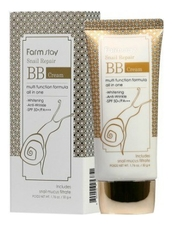 Farm Stay BB крем для лица с муцином улитки Snail Repair Cream 50мл
