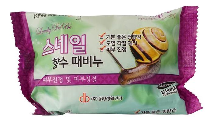 Купить Мыло-скраб с экстрактом улиточной слизи Lovely Bebe Perfume Peeling Soap Snail 120г, JUNO