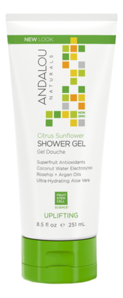 Купить Гель для душа Citrus Sunflower Shower Gel Uplifting 251мл (цитрус и подсолнечник): Гель 251мл, Гель для душа Citrus Sunflower Shower Gel Uplifting (цитрус и подсолнечник), Andalou Naturals