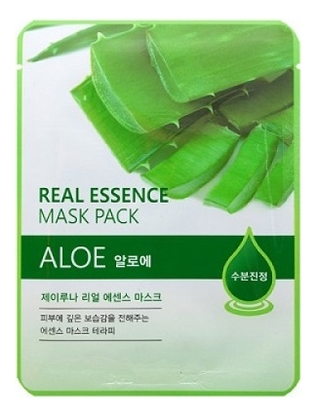 цена на Тканевая маска для лица с экстрактом алоэ вера Real Essence Mask Pack Aloe 25мл