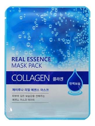 Купить Тканевая маска для лица с коллагеном Real Essence Mask Pack Collagen 25мл: Маска 1шт, JUNO