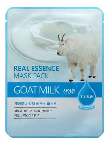 Купить Тканевая маска для лица с козьим молоком Real Essence Mask Pack Goat Milk 25мл: Маска 1шт, JUNO