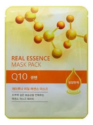 Тканевая маска для лица с коэнзимом Q10 Real Essence Mask Pack 25мл: Маска 1шт lebelage тканевая маска для лица с коэнзимом q10 natural mask 23г