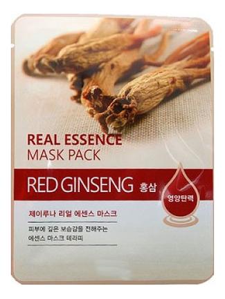 Фото - Тканевая маска для лица с экстрактом красного женьшеня Real Essence Mask Pack Red Ginseng 25мл: Маска 1шт маска на тканевой основе для лица с экстрактом красного женьшеня milatte fashiony ginseng mask sheet