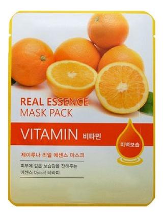 Купить Тканевая маска для лица с витаминами Real Essence Mask Pack Vitamin 25мл: Маска 1шт, JUNO