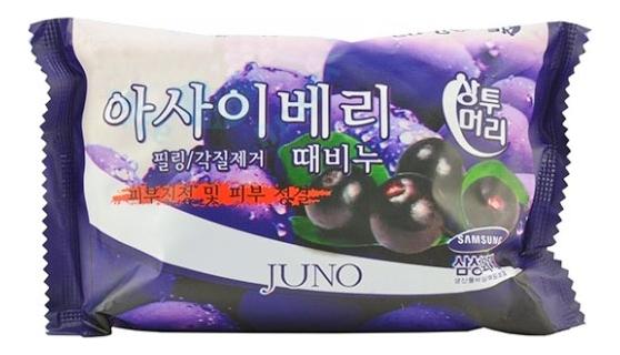 Купить Мыло-скраб с экстрактом асаи Sangtumeori Peeling Soap Acai Berry 150г, JUNO