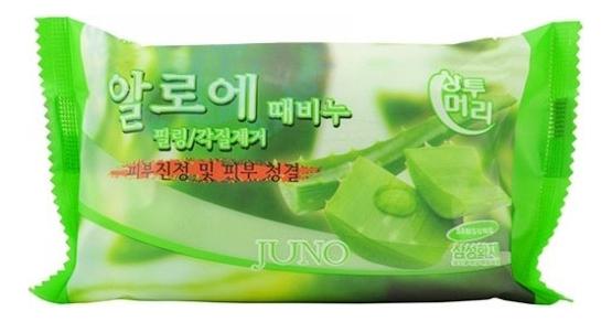 Купить Мыло-скраб с экстрактом алоэ вера Sangtumeori Peeling Soap Aloe 150г, JUNO