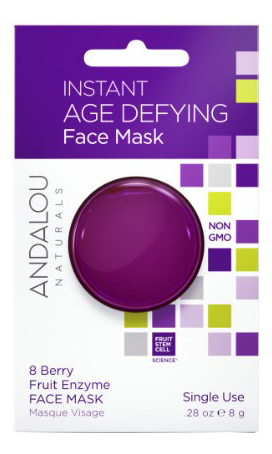 the oozoo маска с ресвератролом для интенсивного лифтинга face in shot mask age cure 1 шт 2 8 мл 27 мл Маска для лица омолаживающая Age Defying Instant Face Mask 8 Berry Fruit Enzyme: Маска 8г