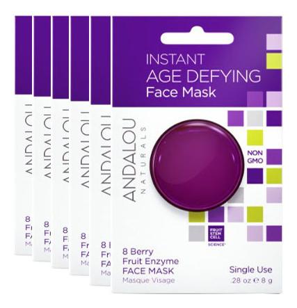 the oozoo маска с ресвератролом для интенсивного лифтинга face in shot mask age cure 1 шт 2 8 мл 27 мл Маска для лица омолаживающая Age Defying Instant Face Mask 8 Berry Fruit Enzyme: Маска 6*8г