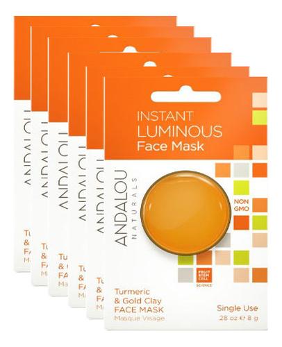 цена Маска для лица осветляющая Instant Luminious Face Mask Turmeric & Gold Clay (куркума и золотая глина): Маска 6*8г онлайн в 2017 году