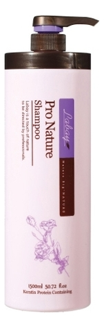 Купить Восстанавливающий шампунь для волос с кератином Pro Nature Shampoo 1500мл, Labay
