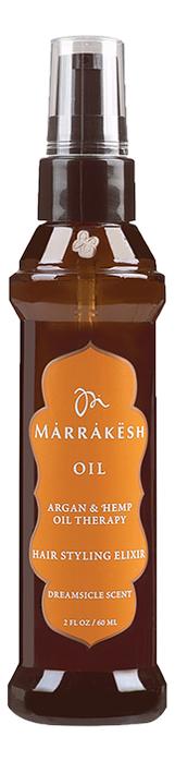 Купить Масло для тонких волос Oil Hair Styling Elixir Dreamsicle Scent 60мл, Marrakesh