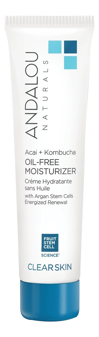Купить Увлажняющий безмасляный крем для лица Clear Skin Acai + Kombucha Oil-Free Moisturizer 62мл, Andalou Naturals