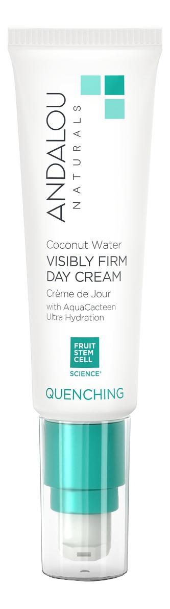Увлажняющий дневной крем для лица с экстрактом кактуса Quenching Coconut Water Visibly Firm Day Cream 50г, Andalou Naturals  - Купить
