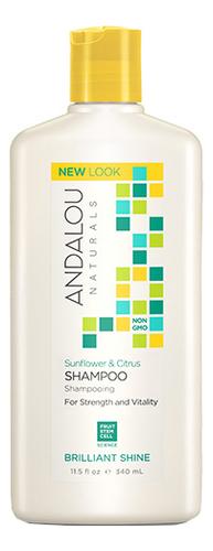 Фото - Шампунь для блеска волос Brilliant Shine Sunflower & Citrus Shampoo 340мл укрепляющий шампунь для ослабленных волос age defying argan stem cell shampoo 340мл шампунь 340мл