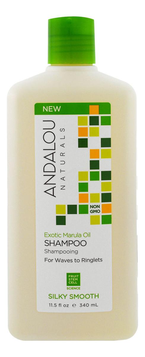 Фото - Шампунь для жестких и вьющихся волос Silky Smooth Exotic Marula Oil Shampoo 340мл укрепляющий шампунь для ослабленных волос age defying argan stem cell shampoo 340мл шампунь 340мл