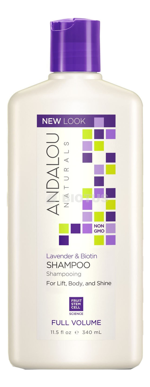 Фото - Шампунь для объема волос Full Volume Lavender & Biotin Shampoo 340мл укрепляющий шампунь для ослабленных волос age defying argan stem cell shampoo 340мл шампунь 340мл