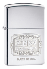 Zippo Зажигалка Classic High Polish Chrome (серебристая)