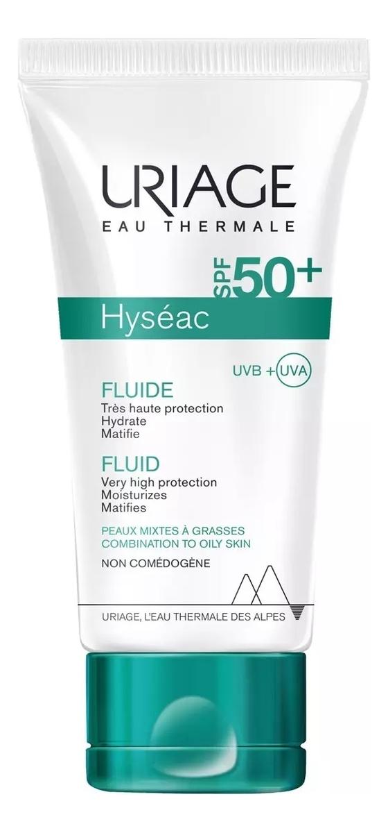 Солнцезащитная эмульсия для жирной и комбинированной кожи лица Hyseac Fluide SPF50+ 50мл матирующая солнцезащитная эмульсия для лица exfoliac matifying suncare fluid spf50 40мл