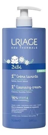 Очищающий пенящийся крем для детей и новорожденных Bebe 1ere Creme Lavante: Крем 1000мл