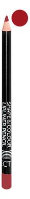 Карандаш для губ Shape & Colour Lipliner Pencil Long Lasting 1,2г: Bordo