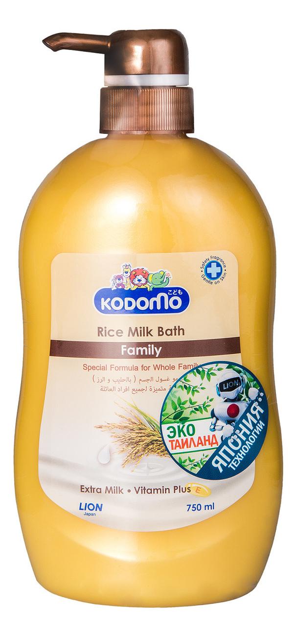Купить Крем-гель для душа Рисовое молочко Kodomo Rice Milk Bath Family 750мл, LION